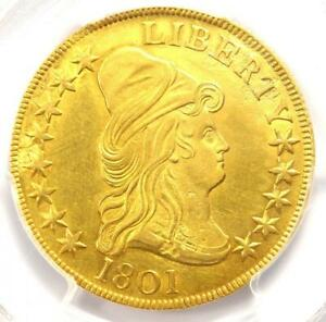 1801-Capped-Bust-Gold-Eagle-10-PCGS-Uncirculated-Detail-UNC-MS-Rare-Coin