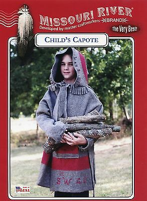 Missouri River Child's/Boys' Capote Hooded Blanket Coat Sewing Pattern size 6-14