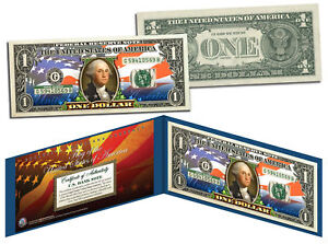 United-States-of-America-Flag-034-New-Design-034-Legal-Tender-1-Bill-FULLY-COLORIZED