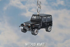 Black 1987 Jeep Wrangler Soft Top Christmas Ornament 1/64 XJ YJ Patriot Games