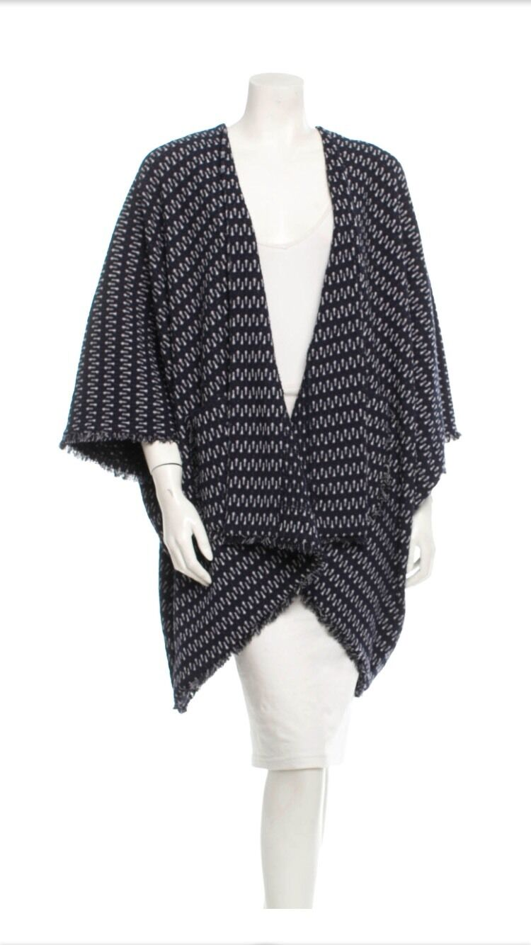 NEW WITH TAGS Elizabeth And James Poncho Fringed Trim Festival Sz XS 8 10 12 14