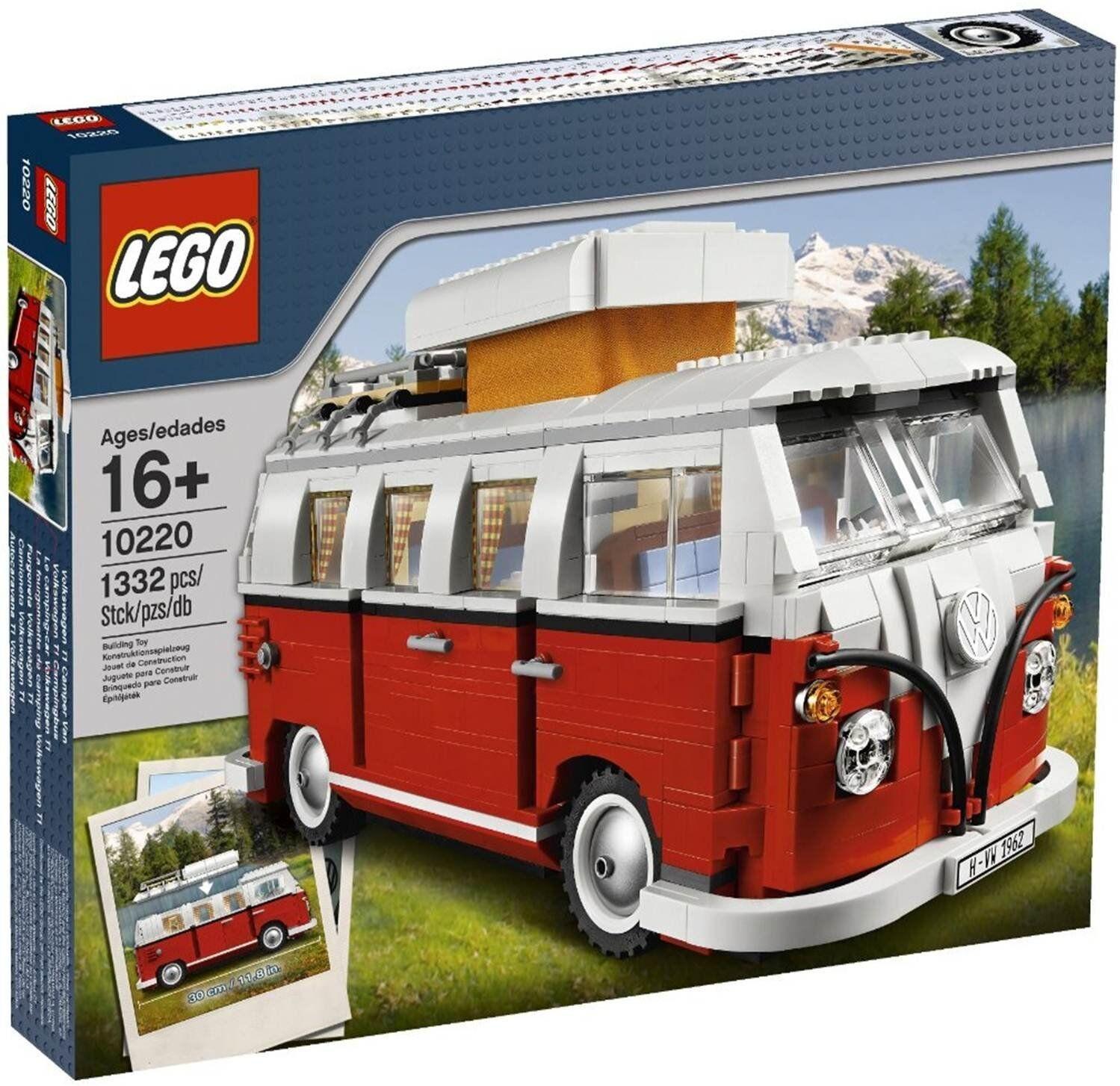 LEGO 10220 - Volkswagen T1 Camper Van  - CONFEZIONE PERFETTA PER COLLEZIONISTI  disegni esclusivi