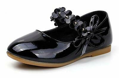 Toddler//Little Kid Femizee Toddler Girls Flower Mary Jane Ballet Flats Shoes with Hook and Loop Strap