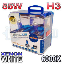 Xenon White H3 55w Halogen Fog Light Healight Bulbs 6000k (PAIR) 453 64151