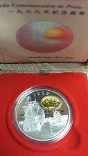 Canada 1999 Macau Return To China Silver Proof Ship Coin (100 Patacas) (NO TAX)