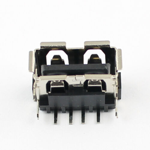 10Pcs USB Female 4Pin Right Angle DIP Reverse Connector