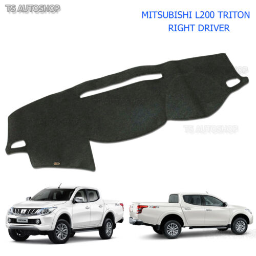 Right Driver Blk Dash Mat Dashmat Carpet Cover Mitsubishi Triton L200 2015-2017