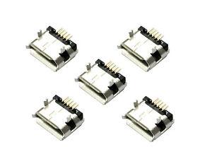5-x-Micro-USB-Tipo-B-Enchufe-5-Pines-Toma-De-Conexion