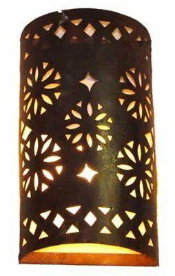 Black Hand pierced tube Moroccan metal wall lampshade only H35 W24 Cm