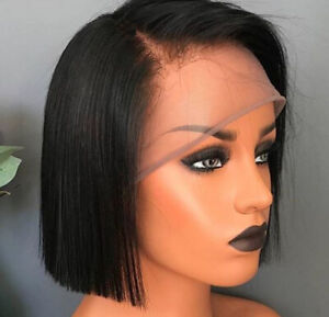 Details about Indian Real Hair Wig Short