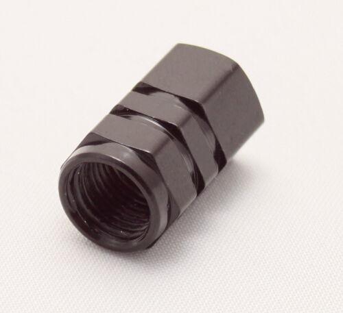 5x tapas de válvula negro cuadrada hexagonal Aluminio Tapa válvula coche moto turismos vsche