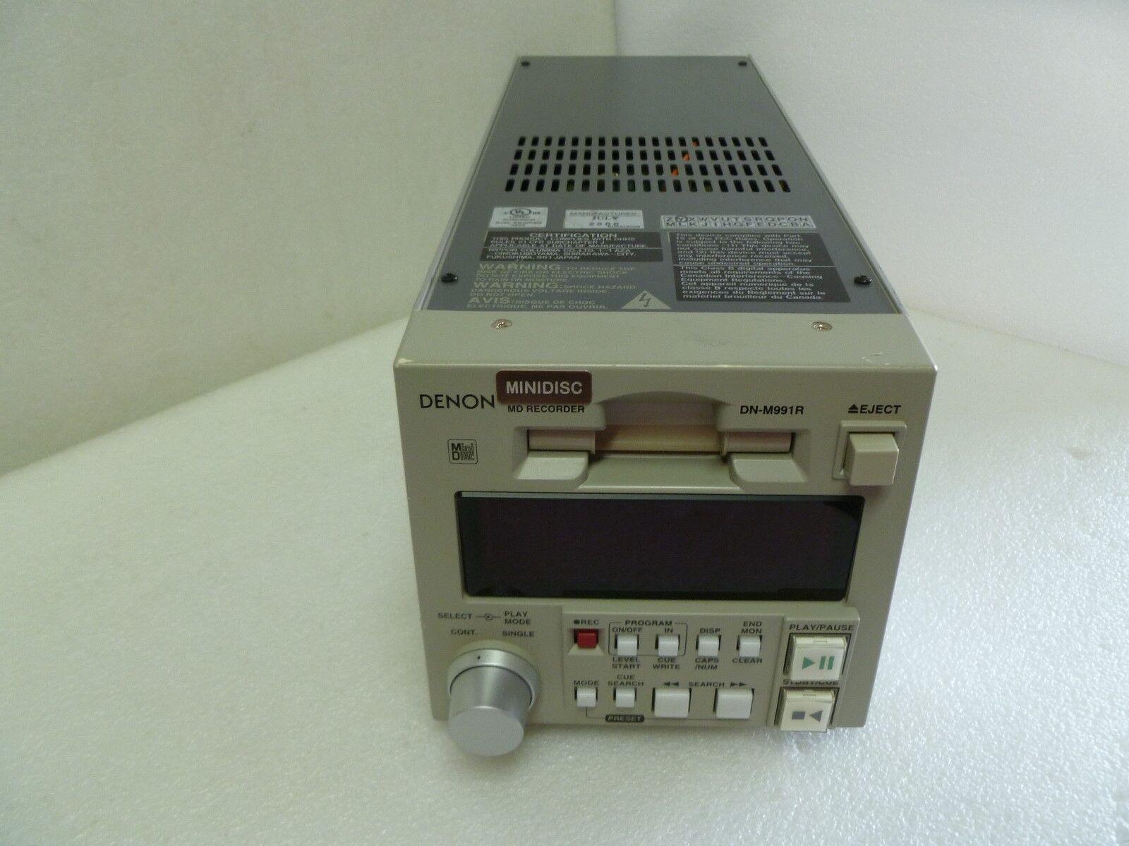DENON DN-M991R MD RECORDER Mini Disk Audio Studio Recording Music Pro Sound