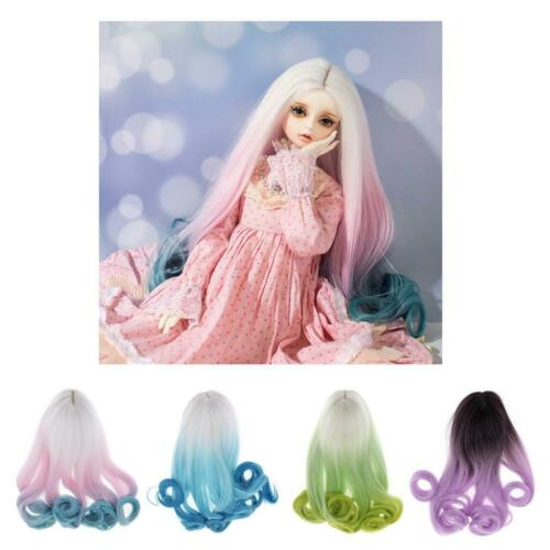 1//4 1//3 BJD Doll Gradient Wig Curly Hair 30cm for Night Lolita Accessories