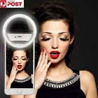 Nice Selfie LED Ring Flash Fill Light Clip Camera For Phone iPhone Samsung HTC