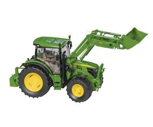 Wiking John Deere Tractor 6215R Con Cochegador 1 32 Granja Edad 14+ réplica diecast