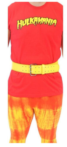 Choose Red or Yellow TV Show Wrestler Hulkamania Costume Wrestling Weight Belt