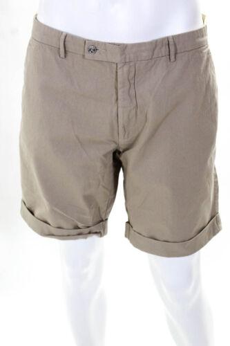 Les Canebiers Mens Aiguier V 2 Khaki Shorts Sand Beige Size Extra Extra Large