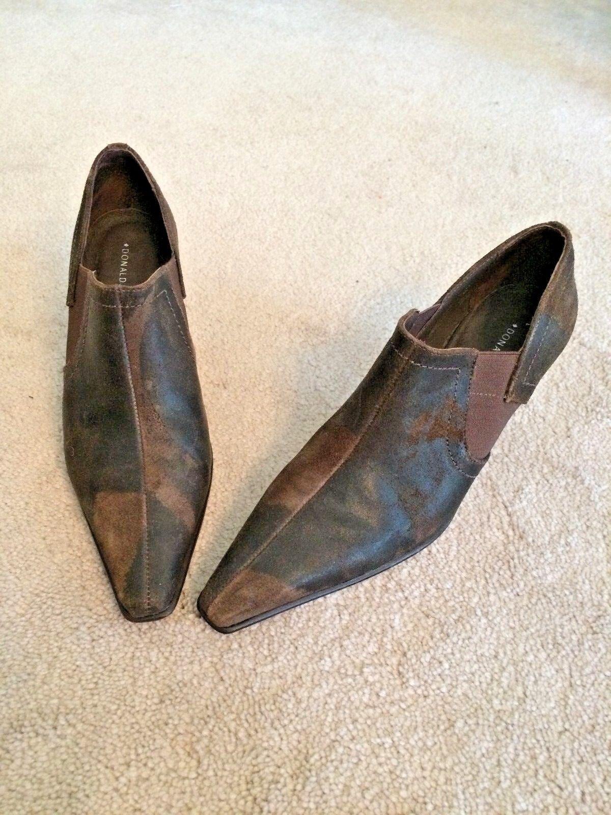 Donald J. Pliner Luanna Brown Suede Heels - 8M