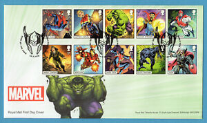 2019-MARVEL-COMICS-Stamp-Set-FIRST-DAY-COVER