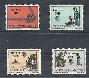 VATICANO-YVERT-708-711-LOURDES-EN-NUEVO