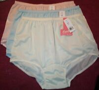 3 Pair Pastel Acetate Panties Size 7 Brief Panty No Cotton In Crotch Usa Made