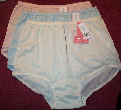 3 Pair Size 5 Long Leg Acetate Panties Vintage No Cotton USA Made