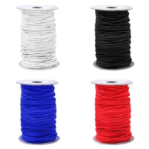3mm 0.5-100m Elastic Rubber Round Bungee Rope Shock Cord Tie Down Boat UV Stable