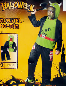 Jungen Kostum Monster Teufel Gr M 7 10 Jahre Fasching Karneval