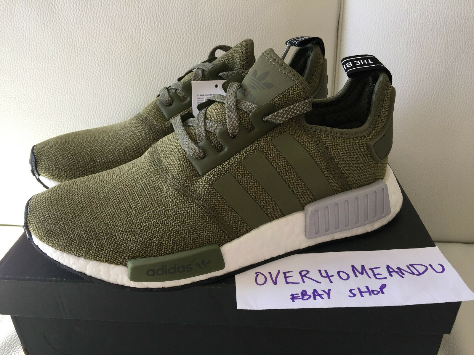ADIDAS NMD R1 RUNNER 'OLIVE CARGO GREEN KHAKI'6 6.5 7 8 9 #BB2790