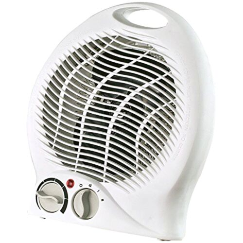 Portable 2-Speed Fan Space Heater w//Automatic Thermostat Control Tip-Over Safety