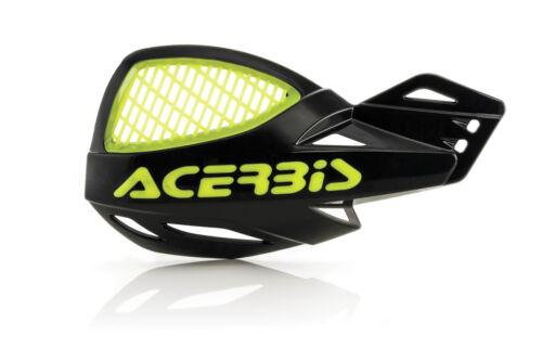 Maniques ACERBIS uniko vented Noir//jaune fluo avec Anbaukit pour KTM exc sx