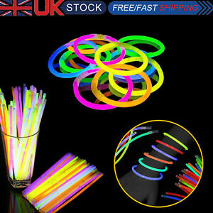 Batons-Lumineux-Fluo-Couleurs-Bracelets-Colliers-Pour-Fete-Cadeaux-Disco-Rave