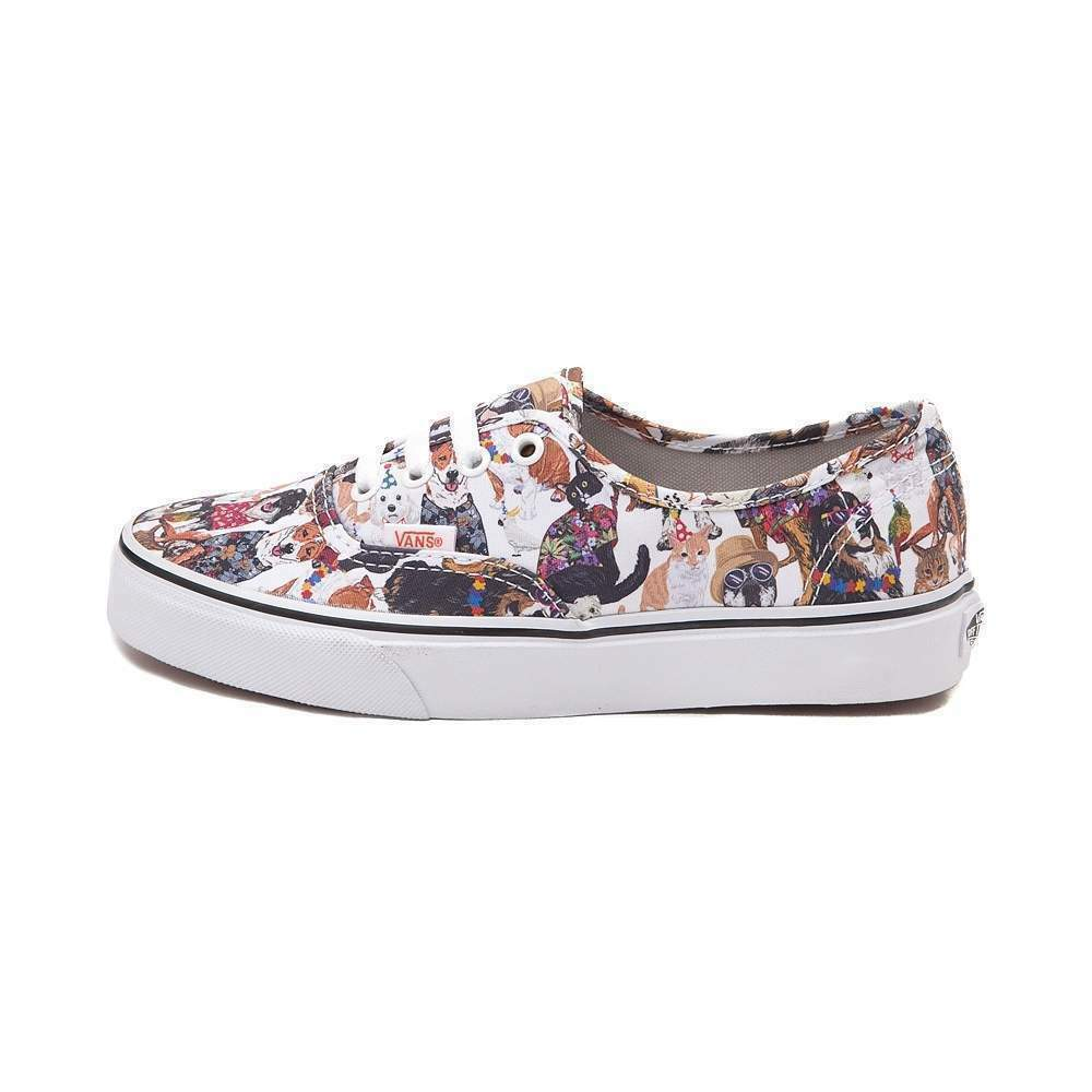 NEW Vans Authentic ASPCA Party Animals DOGS Skate Schuhe Multi CATS DOGS Animals  Print 493c03