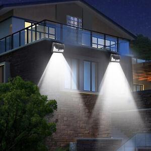Details About 4x Solar Wall Lights Pir Outdoor Led Wireless Waterproof Outside Garden Lighting