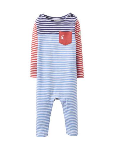 *BNWT* Joules Baby Boys Jolly Hotch Potch Footless Babygrow Romper Blue Stripe