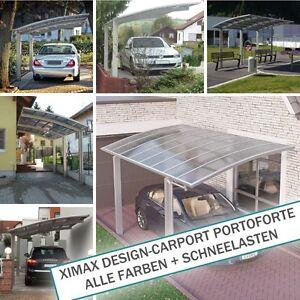 XIMAX-Design-Carport-Portoforte-ALLE-FARBEN-SCHNEELASTEN