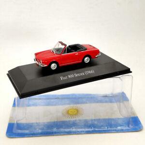 IXO-Fiat-800-Arana-1966-Red-Diecast-modelos-Edicion-Limitada-Coleccion-1-43