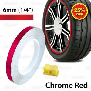 "1//4/"" 6mm Striping Pin Stripe Tape Car WHEEL RIM Decal Sticker FLUORESCENT YELLOW"