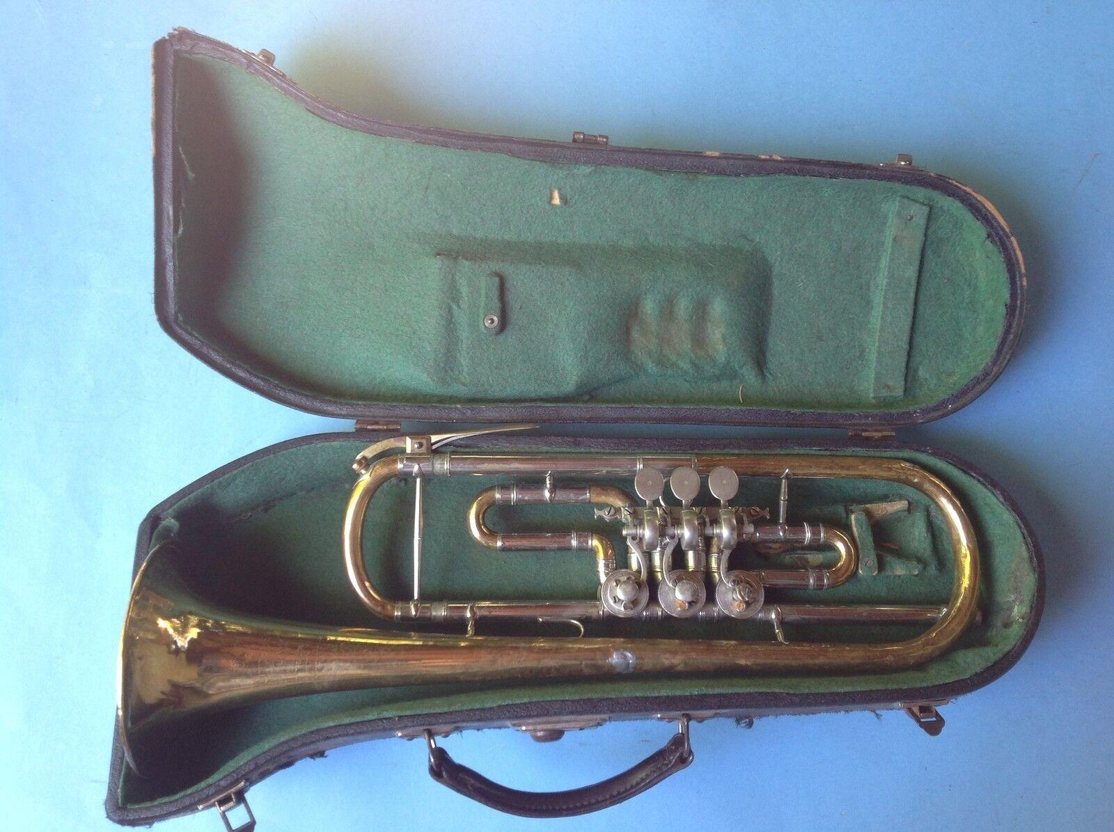 Goldene Trompete Trompete Trompete Teleskop D.R.P. № 320723 A.K.H. Hüttl Graslitz Kraslice 1925 401206