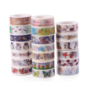 10M-Cartoon-Animal-Washi-Masking-Tape-Scrapbook-Paper-Adhesive-DIY-Sticker-Decor