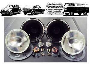 Morris-Minor-7-034-Sealed-Beam-Halogen-Conversion-Headlight-Kit-With-Bulbs
