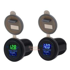 Waterproof Universal DC 12V-24V Car LED Panel Digital Voltage Meter Voltmeter