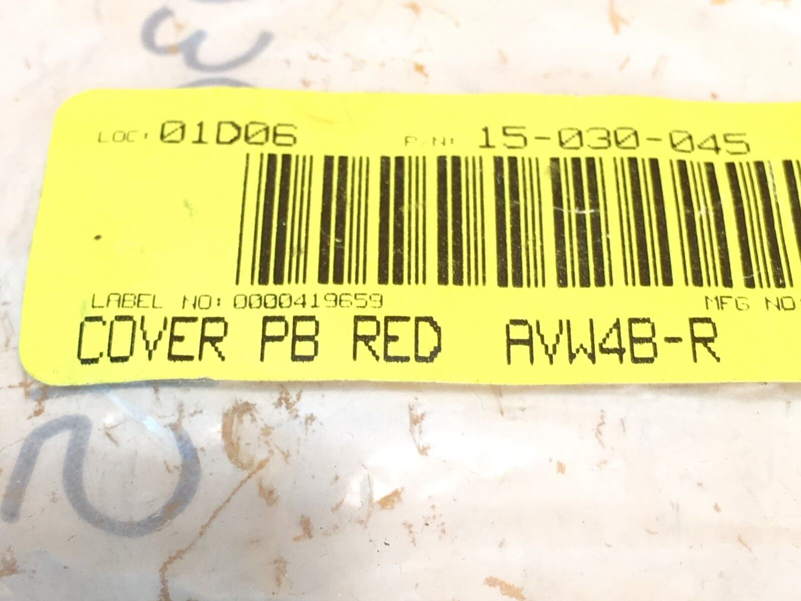 ***NEW*** IDEC AVW4B-R RED LENS 40 mm EMERGENCY OFF PUSHBUTTON COVER
