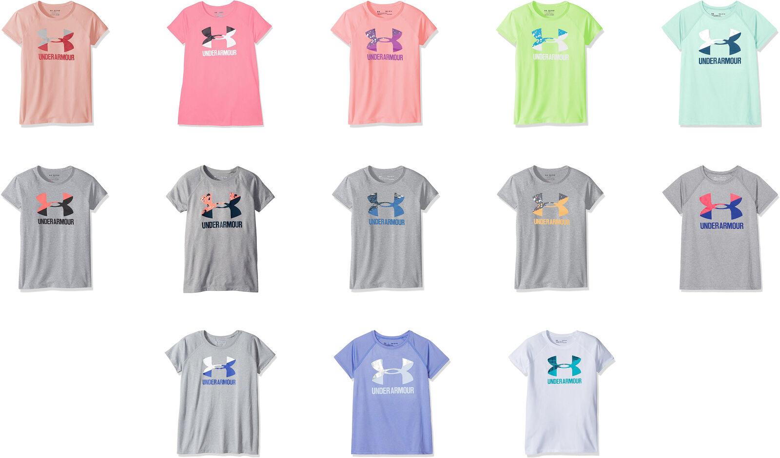 Girls/' Under Armour Big Logo Solid Short-Sleeve T-Shirt