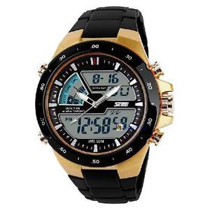 Boys-Mens-Dual-Display-Digital-Quartz-Battery-Sports-Wrist-Watch-Waterproof-F-OR