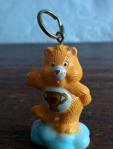 CUSTOM-1985-Vintage-Care-Bear-1-5-034-ATTACHABLE-Keychain-CHAMP-BEAR-Never-Made