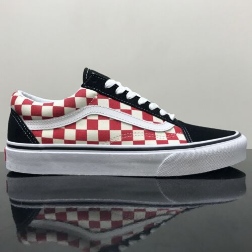 de Zapatillas Old deporte negras Vans blancas rojas Skool Checkerboard Hqdzq1