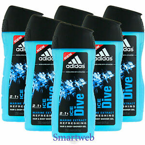 6-x-250ml-Adidas-Ice-Dive-Gel-de-Ducha