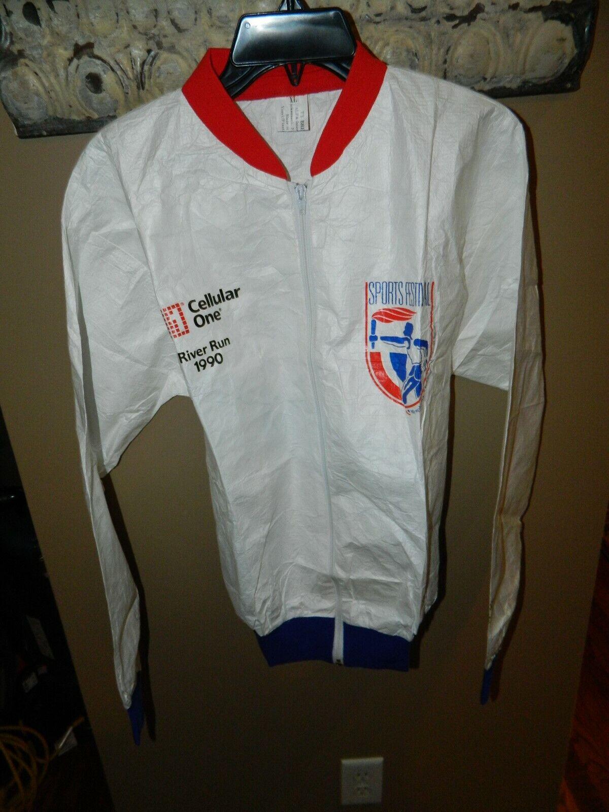 Memphis In May International Festival 1990 River Run Rainwear Jacket XL