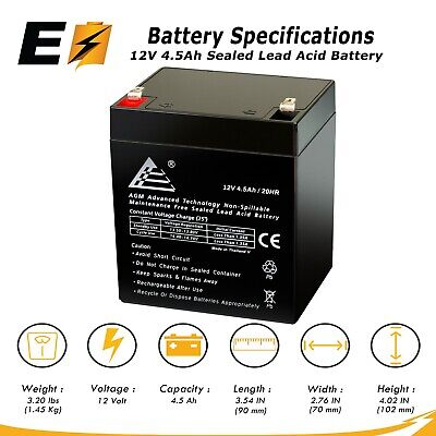 12V 5Ah F1 SLA Replacement Battery for Johnson Controls JC1240